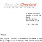 Courrier au ministre Xavier Bertrand : 4 oct 2011