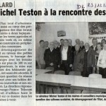 Le sénateur Michel TESTON à la rencontre des élus: 23 Déc 2013