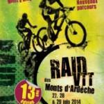 Raid VTT des monts d'Ardèche:  27-29 Juin 2014