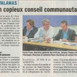 Conseil communautaire de Val'Eyrieux:  29 Sept 2014