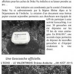 Geocaching sur la Dolce Via