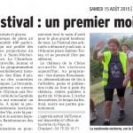 Le Cheylard: Tourisme estival: 15 Août 2015