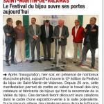 St Martin de Valamas: 12me Festival du bijou: 12 Sept 2015