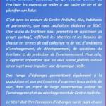 Le Schéma de Cohérence Territoriale Centre Ardèche (SCoT): lettre N°1