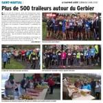 500 traileurs autour du Gerbier à St Martial: Février 2016