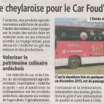 le Car Fou d'Ardèche: Avril 2016