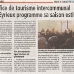 Val'Eyrieux Mai 2016, programme sa saison estivale