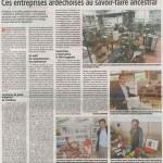 10 entreprises du patrimoine vivant en Ardèche: Mai 2016