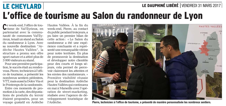 Salon des randonneurs lyon mars 2017 for Salon de l industrie lyon 2017