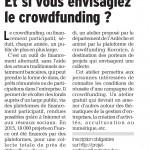 Et si vous envisagiez le crowfunding ! Mars 2017